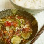 【日式菜谱】夏野菜たっぷりトマトつけ麺【東京発!バイリンガルヘルシークッキング】