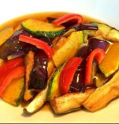 冷汁香炸五彩蔬菜