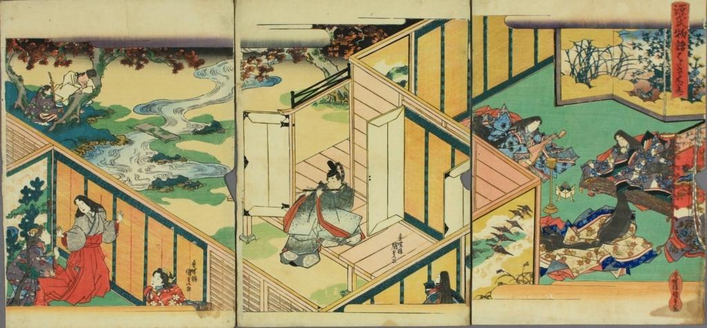 《源氏物语》帚木段的绘卷